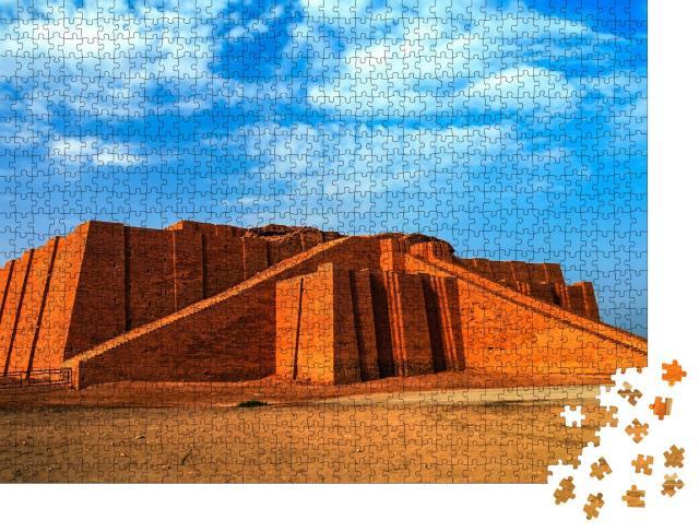 """Puzzle 1000 Teile """"Restaurierte Ziggurat im antiken Ur, sumerischer Tempel, Irak"""""""