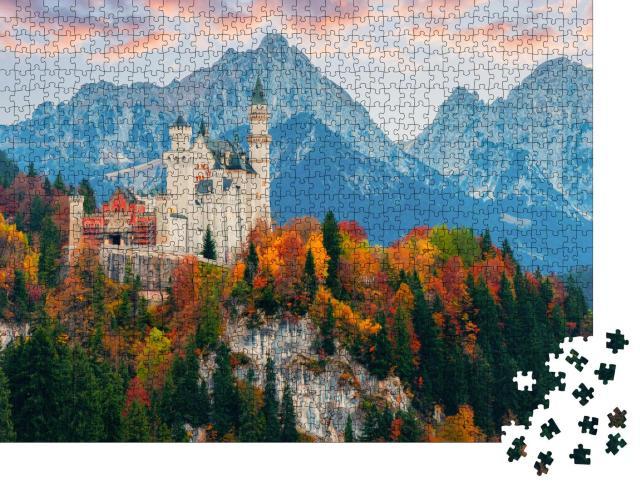 """Puzzle 1000 Teile """"Schloss Neuschwanstein im Herbst, Deutschland"""""""