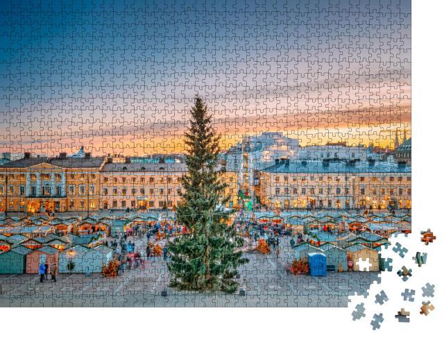 """Puzzle 1000 Teile """"Weihnachtsmarkt auf dem Senatsplatz, Helsinki, Finnland"""""""