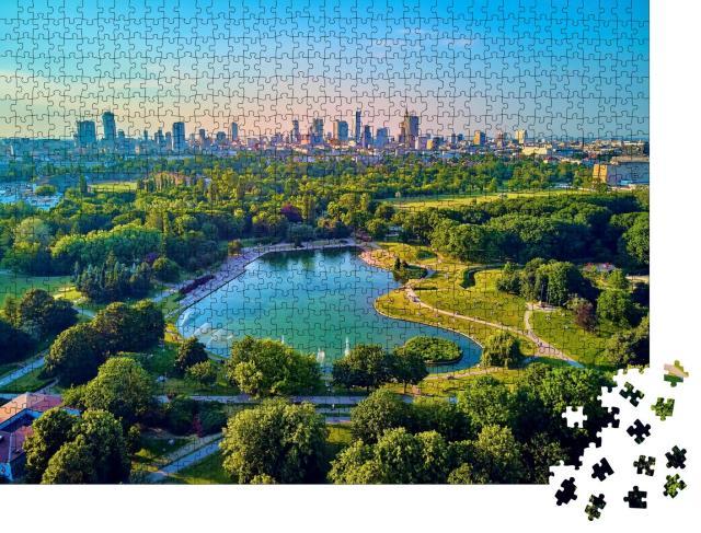 """Puzzle 1000 Teile """"Warschau: ein Abend an der Mokotowskie im Juni, Polen"""""""