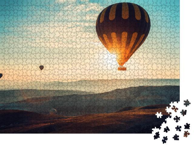 """Puzzle 1000 Teile """"Heißluftballons über Kappadokien, Türkei"""""""