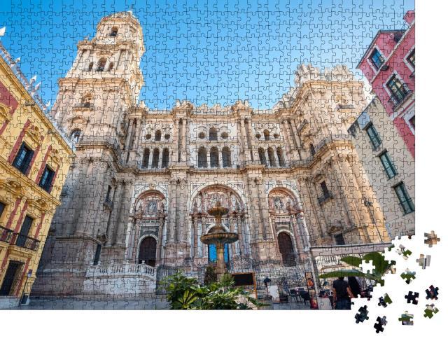 """Puzzle 1000 Teile """"Beeindruckende Kathedrale von Málaga, Andalusien, Spanien"""""""