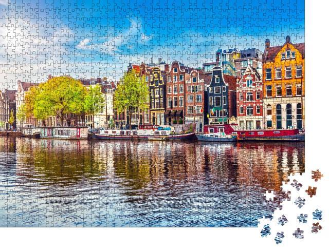 """Puzzle 1000 Teile """"Amsterdam, Niederlande: Die tanzen Häuser"""""""