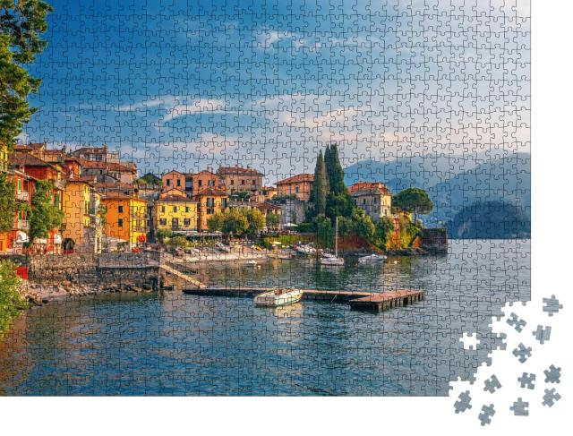 """Puzzle 1000 Teile """"Varenna am Comer See, Italien"""""""
