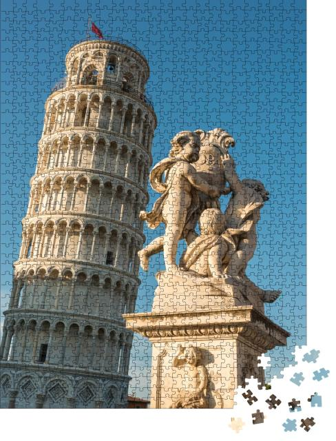 "Puzzle 1000 Teile ""Der Campo Santo in Pisa: Der schiefe Turm"""