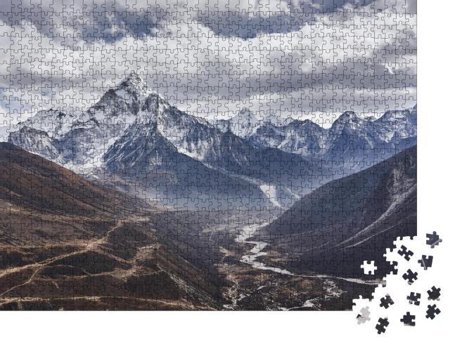 """Puzzle 1000 Teile """"Berg Am Dablam in Nepal"""""""