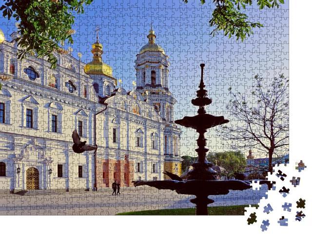 """Puzzle 1000 Teile """" Pechersk Lawra-Kloster, Kiew, UNESCO-Weltkulturerbe"""""""