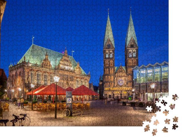 """Puzzle 1000 Teile """"Bremer Marktplatz im Zentrum der Hansestadt Bremen"""""""