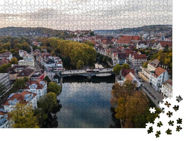 """Puzzle 1000 Teile """"Tübingen am Neckar von oben"""""""
