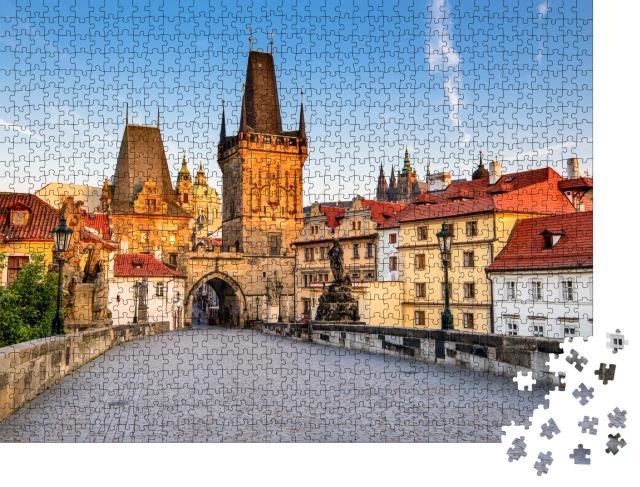 """Puzzle 1000 Teile """"Prag, Tschechische Republik: Karlsbrücke über die Moldau"""""""