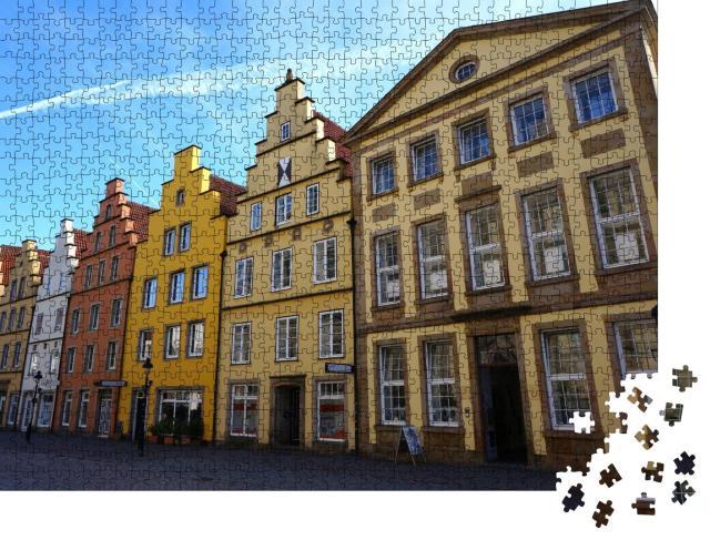 """Puzzle 1000 Teile """"Bunte Häuser, Osnabrück"""""""