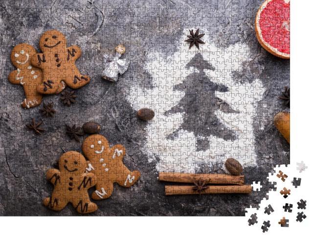 """Puzzle 1000 Teile """"Weihnachtsbäckerei: Lebkuchenmänner"""""""
