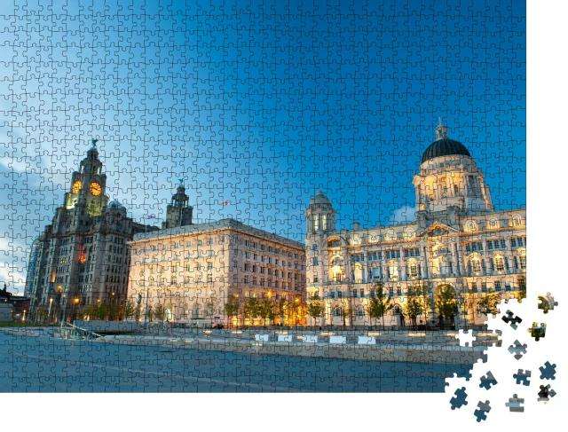 """Puzzle 1000 Teile """"Liverpool bei Nacht, England"""""""
