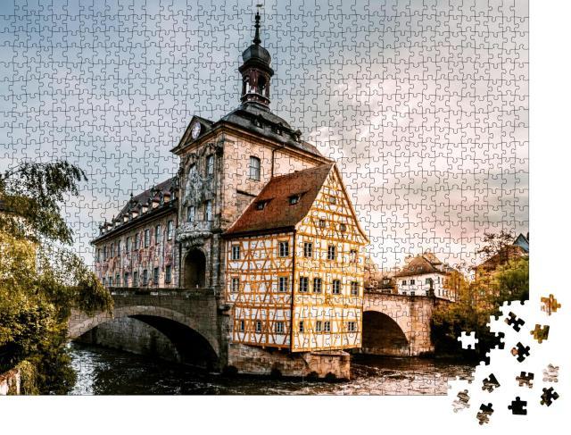 """Puzzle 1000 Teile """"Altes Rathaus in Bamberg, Deutschland"""""""