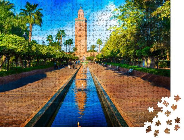 """Puzzle 1000 Teile """"Minarett im Medina-Viertel von Marrakesch, Marokko"""""""