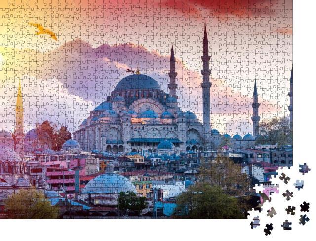 """Puzzle 1000 Teile """"Istanbul, Ansicht der türkischen Hauptstadt"""""""