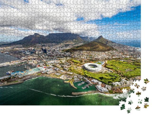 """Puzzle 1000 Teile """"Kapstadt und die 12 Apostel von oben, Südafrika"""""""