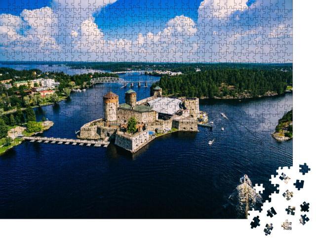 """Puzzle 1000 Teile """"Mittelalterliche Burg Olavinlinna in Savonlinna, Finnland"""""""