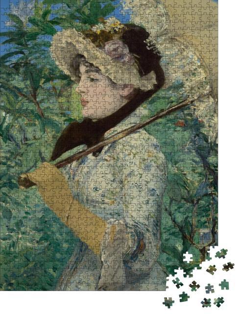 """Puzzle 1000 Teile """"Jeanne oder Der Frühling, Edouard Manet 1881"""""""