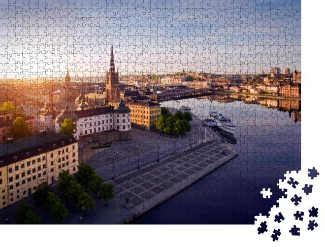 """Puzzle 1000 Teile """"Luftaufnahme der Stadt Stockholm"""""""