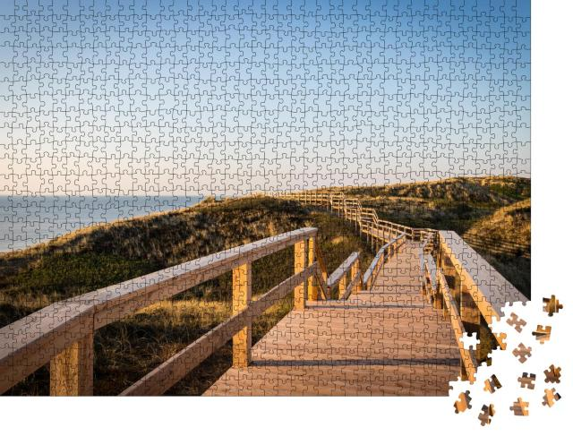 """Puzzle 1000 Teile """"Strandtreppen-Wanderweg auf der Insel Sylt"""""""