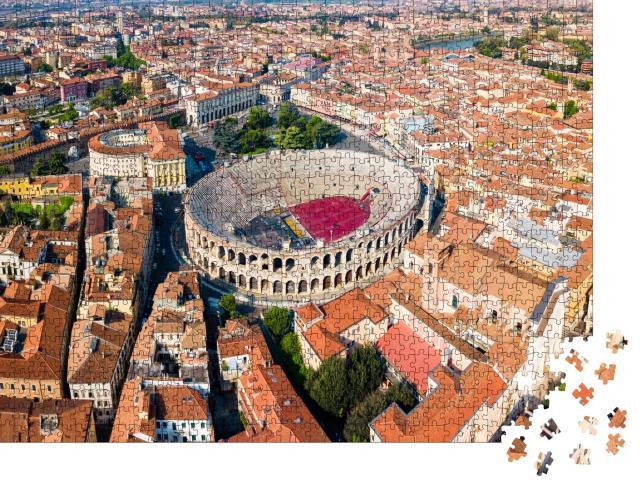 """Puzzle 1000 Teile """"Römisches Amphitheater auf der Piazza Bra in Verona, Italien"""""""