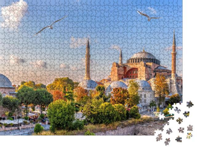 """Puzzle 1000 Teile """"Schöne Aussicht auf die Hagia Sophia, Istanbul, Türkei"""""""