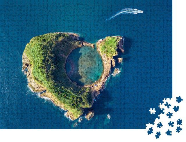 """Puzzle 1000 Teile """"Vila Franca do Campo, Krater eines alten Unterwasservulkans, Azoren"""""""