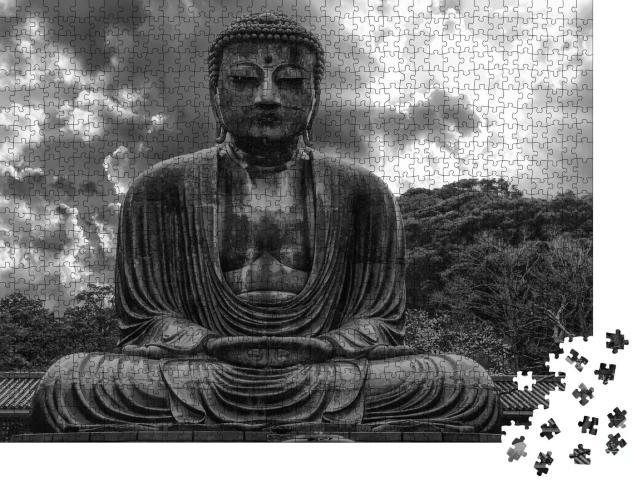 """Puzzle 1000 Teile """"Der Kamakura Daibutsu, der große Buddha von Kamakura, Japan"""""""