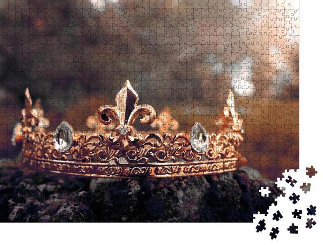 """Puzzle 1000 Teile """"Fantasy: Magisch-goldene Königskrone"""""""