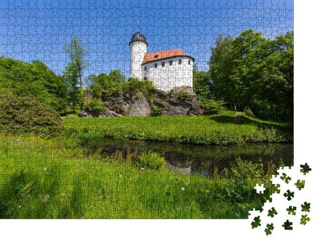 """Puzzle 1000 Teile """"Malerische Burg Rabenstein, Chemnitz, Deutschland"""""""