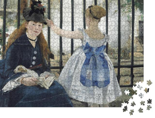 "Puzzle 1000 Teile ""Die Eisenbahn, Edouard Manet 1873"""