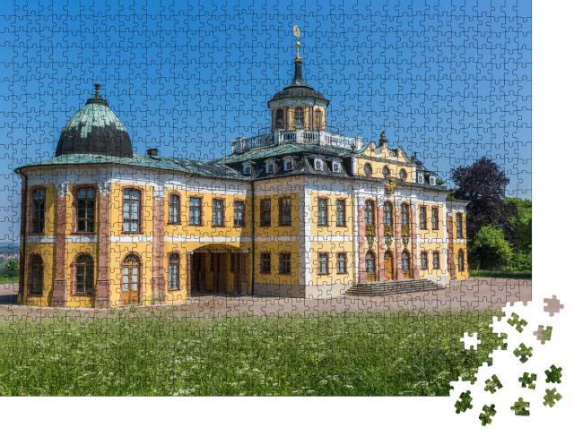"""Puzzle 1000 Teile """"Das barocke Schloss Belvedere in Weimar, Thüringen"""""""