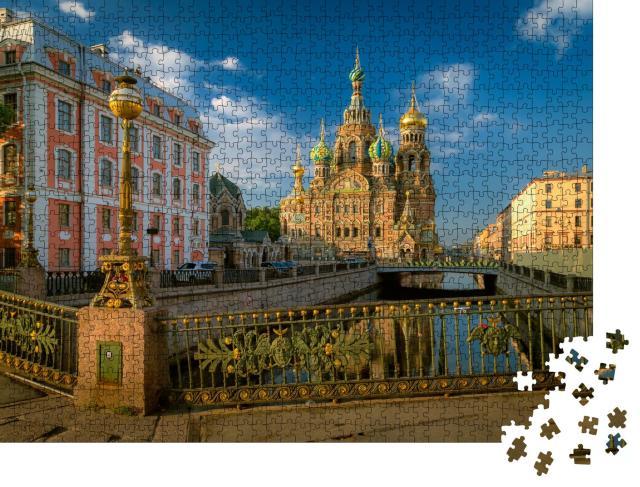 """Puzzle 1000 Teile """"Kirche der Auferstehung, Sankt Petersburg, Russland"""""""