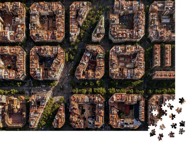 """Puzzle 1000 Teile """"Typische Bauweise von Barcelona, Spanien"""""""