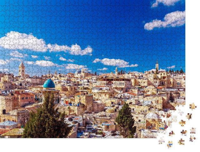 """Puzzle 1000 Teile """"Dächer der Altstadt von Jerusalem, Israel"""""""