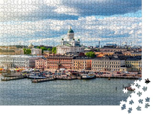 """Puzzle 1000 Teile """"Stadtbild und Dom von Helsinki, Finnland"""""""