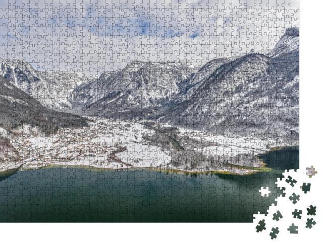 """Puzzle 1000 Teile """"Hallstatt im Winter, Österreich"""""""