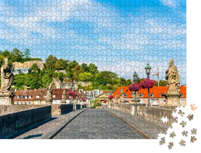 """Puzzle 1000 Teile """"Alte Mainbrücke in Würzburg, Bayern"""""""