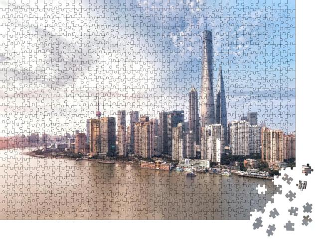 "Puzzle 1000 Teile ""Shanghai Skyline"""