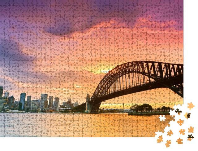 """Puzzle 1000 Teile """"Sydney Harbour Panorama von Kirribilli in Nord-Sydney aus gesehen"""""""