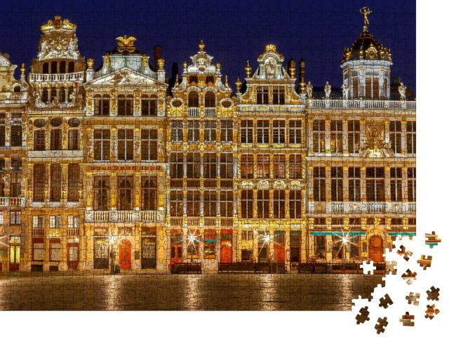 """Puzzle 1000 Teile """"Grand-Place in Brüssel bei Nacht"""""""