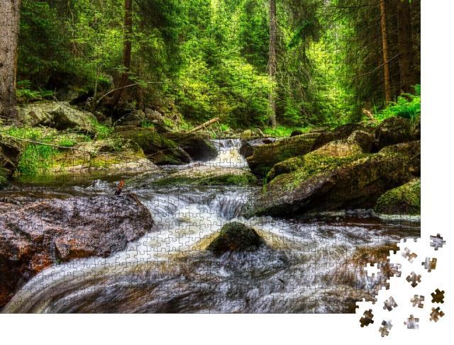 """Puzzle 1000 Teile """"Fluss im Erzgebirge"""""""