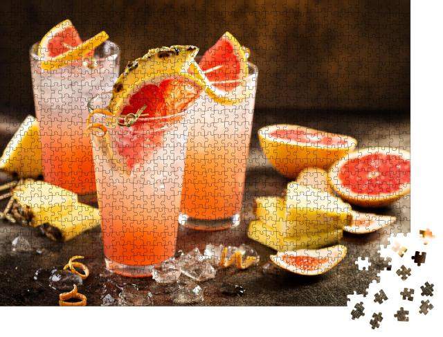 "Puzzle 1000 Teile ""Erfrischung pur: Grapefruit- und Ananas-Cocktail"""