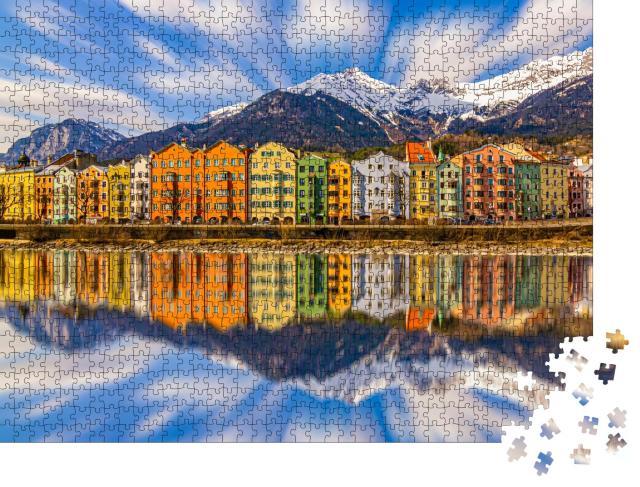 """Puzzle 1000 Teile """"Bunte Häuser in Innsbruck, Österreich"""""""
