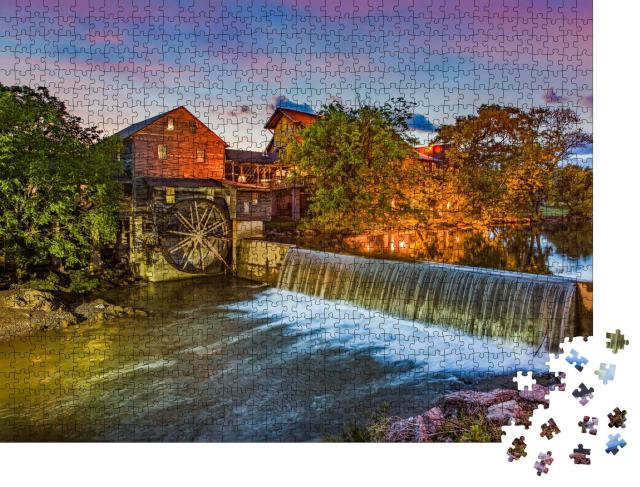 """Puzzle 1000 Teile """"Pigeon Forge Tennessee"""""""