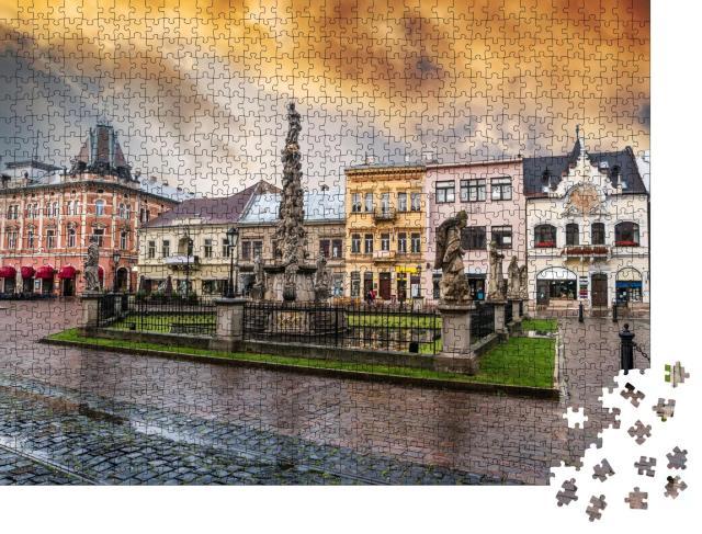 """Puzzle 1000 Teile """"Die Pestsäule auf dem Marktplatz von Košice, Slowakei"""""""