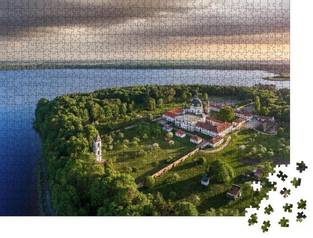 """Puzzle 1000 Teile """"Luftaufnahem vom Pazaislis-Kloster bei Kaunas, Litauen"""""""
