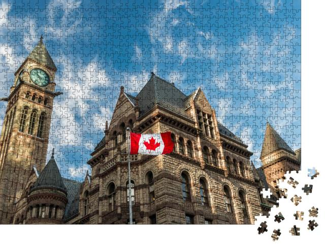 """Puzzle 1000 Teile """"Old City Hall in Toronto, Kanada"""""""