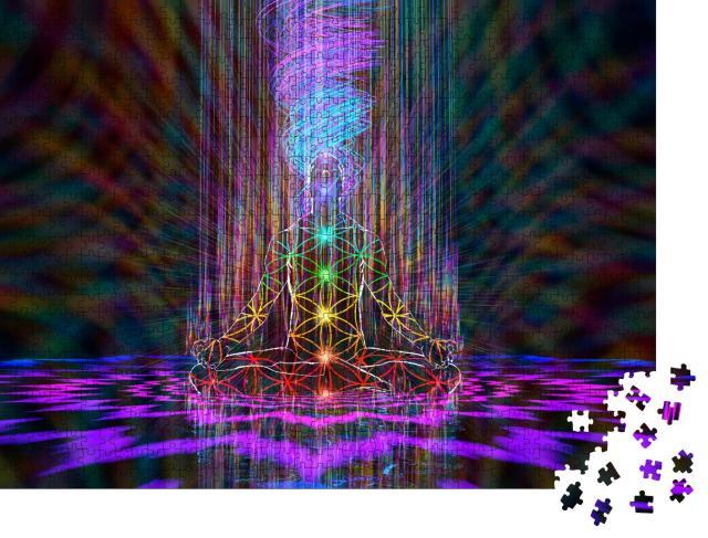 """Puzzle 1000 Teile """"Harmonie der Demiurgen-Meditation"""""""